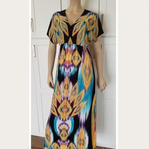 Dresses & Skirts - Colorful Maxi Dress stretchy Boho ❤ FINAL MARKDOWN